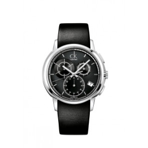 Klockarmband Calvin Klein K1V27102 / K600000091 Läder Svart 22mm