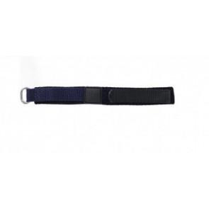 Klockarmband Universell KLITTENBAND 412R Kardborreband Blå 14mm