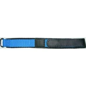 Kardborreband Klockarmband 20mm ljusblått