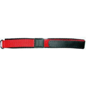 Kardborreband Klockarmband 20mm rött