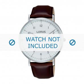 Lorus klockarmband VJ21 X071 / RH895BX9 Läder Brun 20mm + sömmar brun