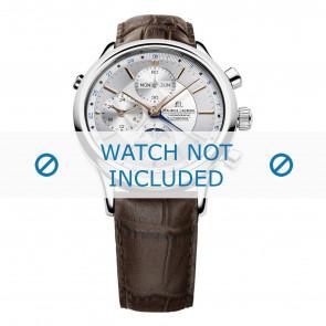 Klockarmband Maurice Lacroix LC6078-SS001-131 / (# 800-000254) Läder Brun 20mm