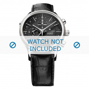 Klockarmband Maurice Lacroix LC6078-SS001-331 / 800-000242 Läder Svart 20mm