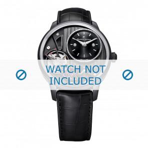 Maurice Lacroix klockarmband MP6118-PVB01-330 Läder Svart + sömmar svart