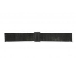 Klockarmband Universell 22.1.5-ST-ZW Milanese Svart 22mm