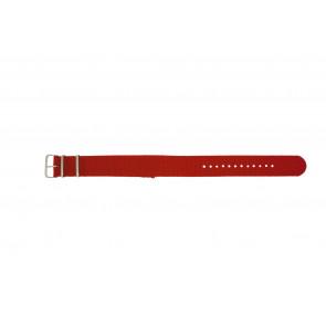 Klockarmband Textil 22mm Rött /  /  EX WH30