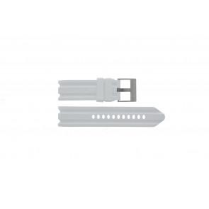 Nautica klockarmband A15567G Gummi Vitt 24mm