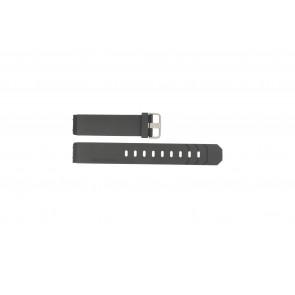Jacob Jensen klockarmband 600 / 800 / 601 / 602 Gummi Svart 19mm