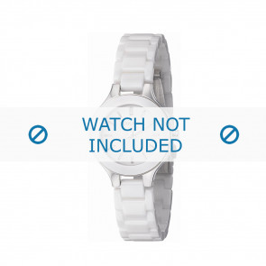 DKNY klockarmband NY4886 Broadway Keramik Vitt 14mm