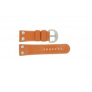 Klockarmband Universell OVR-ORANJE-28MM Läder Apelsin 28mm