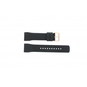 Klockarmband Pulsar W861-X006 / PQ2046X1 / PP255X Gummi Svart 24mm