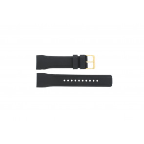 Pulsar klockarmband W861-X006 / PQ2048X1 / PP256X Gummi Svart 24mm