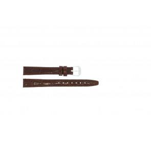 Läder Klockarmband krokodilmönstrat lack brunt 14mm 082