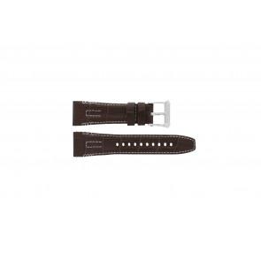 Seiko klockarmband 5D44-0AE0 Läder Brun 26mm + sömmar vitt