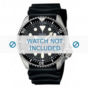 Klockarmband Seiko 7S26-0020-SKX007K1 Gummi Svart 22mm