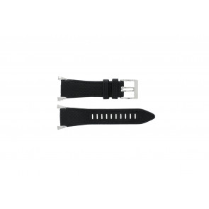 Seiko klockarmband 7T62-0HH0 Läder Svart 33mm