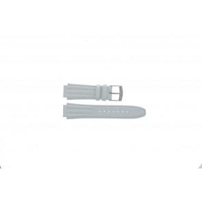 Klockarmband Seiko 7T92-0HD0 / SND875P1 / 4LE7JB Läder Vit 16mm