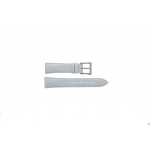 Seiko klockarmband 7T92-0KS0 Läder Vitt 20mm