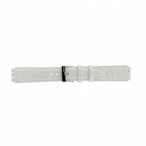 Klockarmband Swatch 21414.11 Läder Vit 17mm