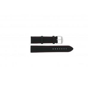 Tissot klockarmband T049.417 - T600031360 / T038.430 / T049.410 / T033.410 / T71.3.633 / T71.3.623 / T033.423 Läder Svart 19mm + sömmar rött