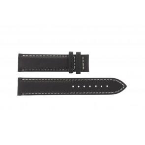 Tissot klockarmband T014.410.16.037.00 - T610025416 Läder Mörk brun 19mm + sömmar vitt