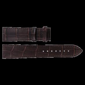 Tissot klockarmband T063.610.36.038.00 Läder Mörk brun 20mm + sömmar brun