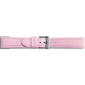 Klockarmband i äkta läder rosa 18mm 283