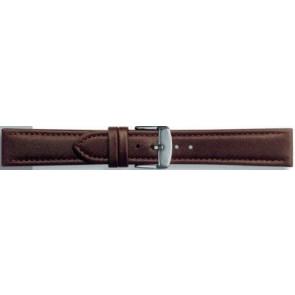 Klockarmband i äkta läder mörkbrun 24mm PVK-283