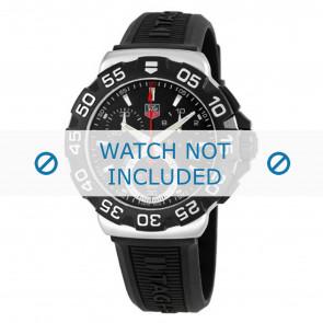 Klockarmband Tag Heuer BT0714 Gummi Svart 20mm
