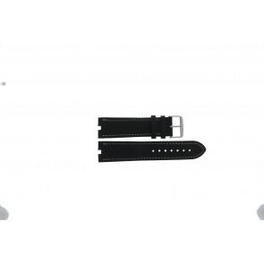Tommy Hilfiger klockarmband TH-38-1-14-0686 ALT 307.01 Läder Svart 24mm + sömmar vitt