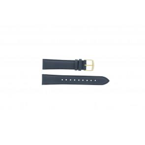 Timex klockarmband PW2P63400 Läder Mörk blå 18mm