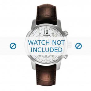 Tissot klockarmband T361.461 PRC-200 - T600013367 Krokodil läder Brun 19mm + sömmar brun