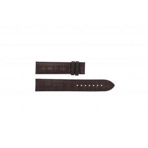 Tissot klockarmband T065.430.A - T610029096 / T065.430.160.310.0 Krokodil läder Brun 19mm