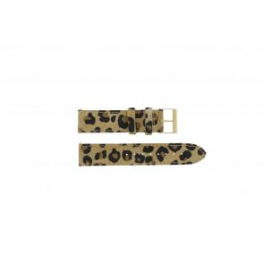 Guess klockarmband W16574L1 Läder Leopard 20mm