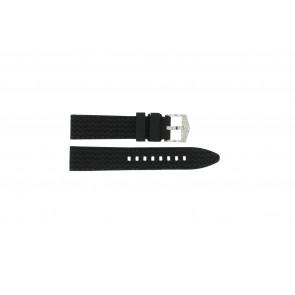 Klockarmband Universell 5809.01 Silikon Svart 20mm