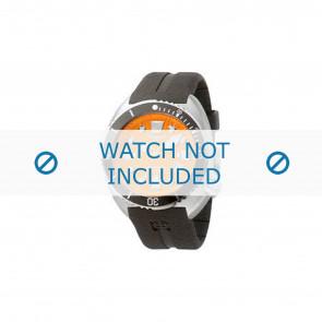 Klockarmband Zodiac ZO8002 / ZO8001 Gummi Svart 21mm