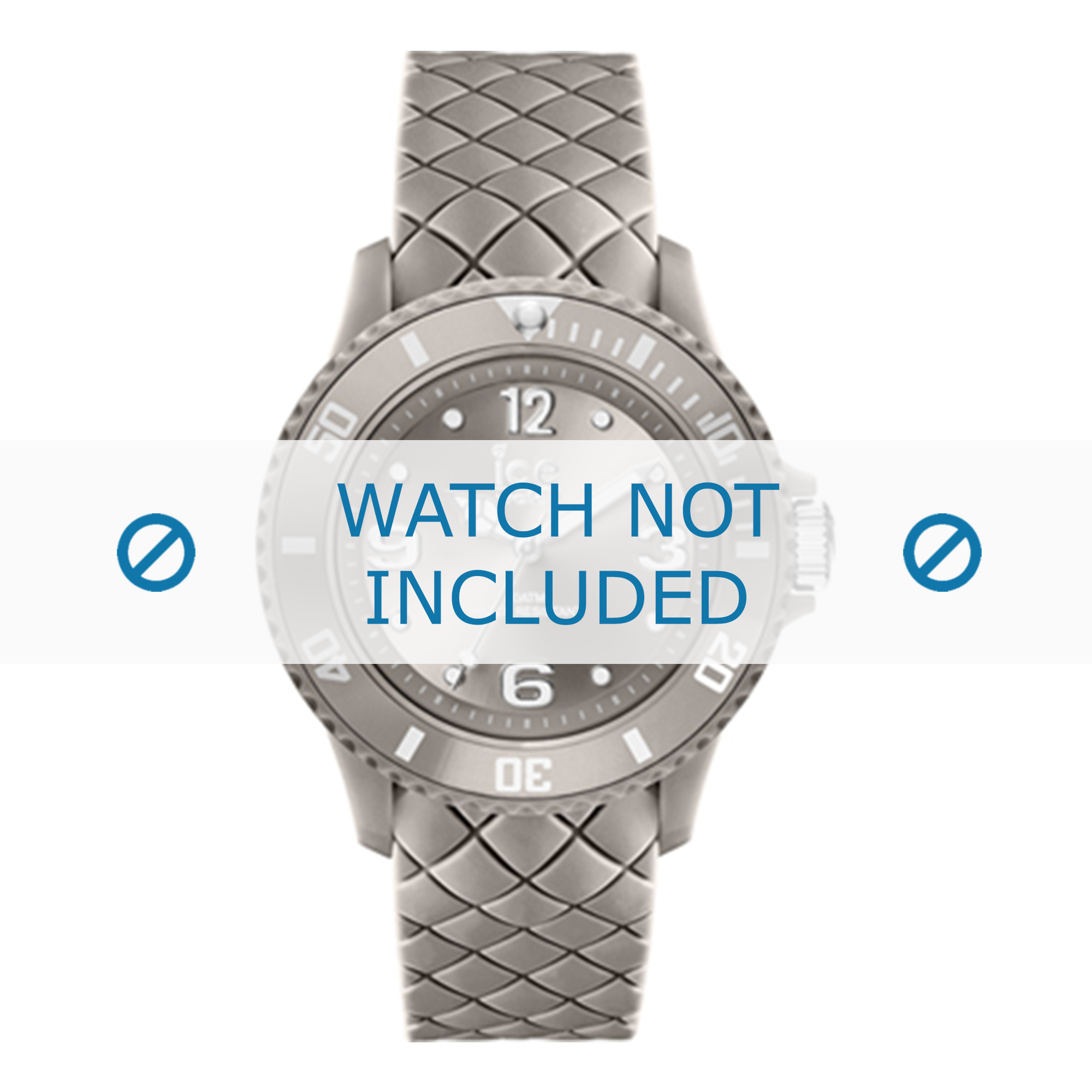 Ice Watch klockarmband 007272-5 Läder Grå 20mm