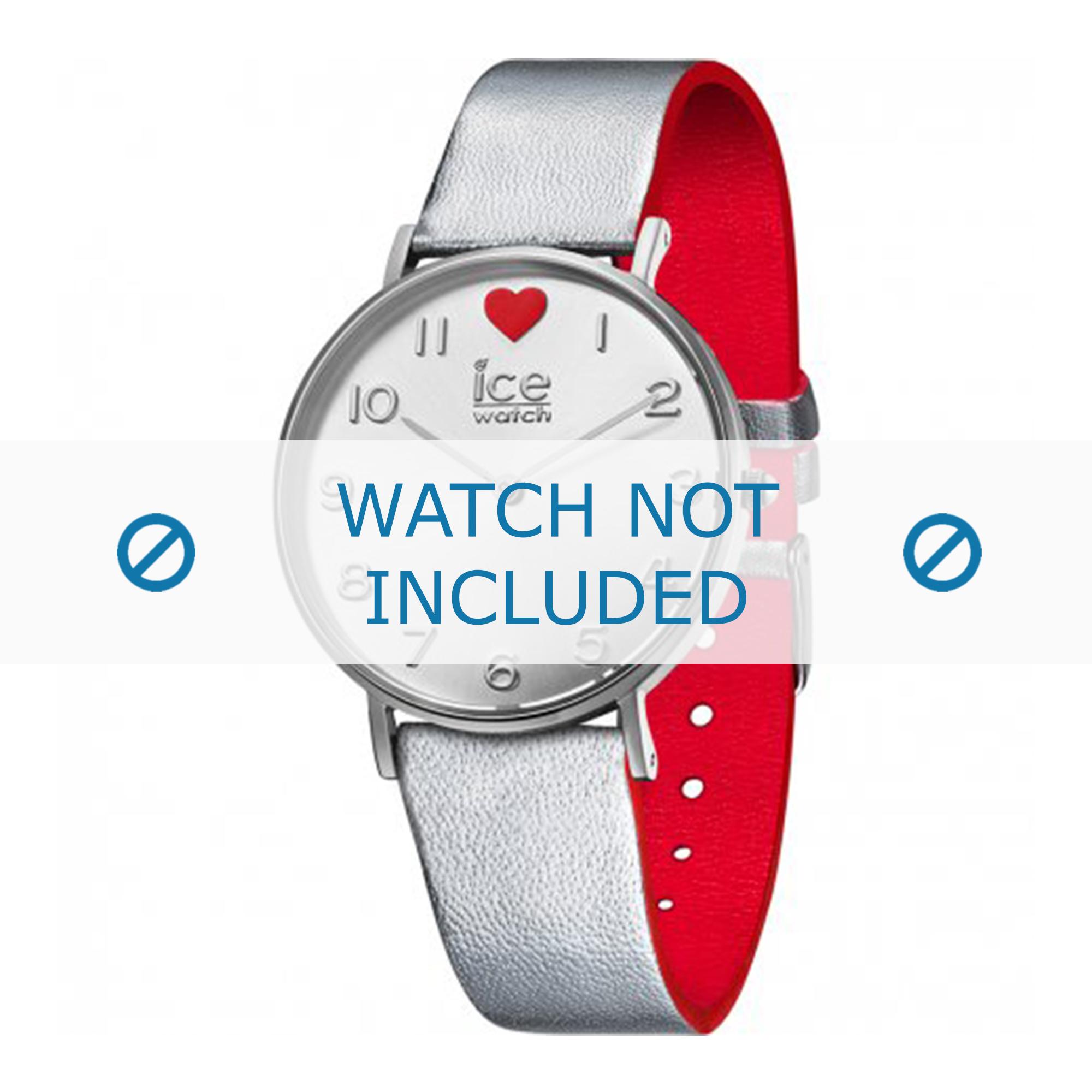 Ice Watch klockarmband 013375 Läder Ilverfärgad 18mm