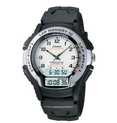 Klockarmband Casio 10018051 / WS-300-7B Plast Svart 18mm