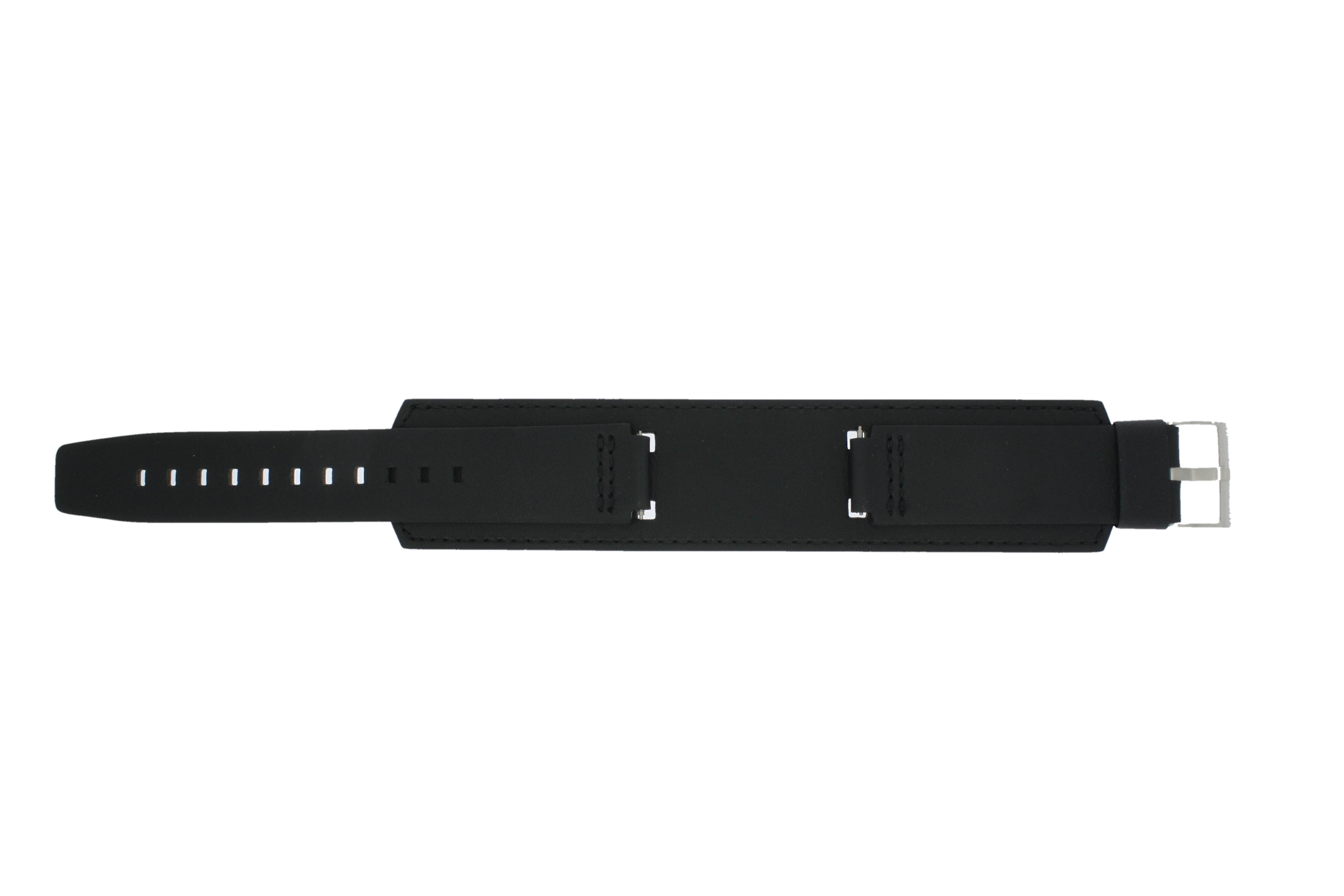 Casio klockarmband WV-300DE - WV-300LA-1V - IRW-100BJ-1J / 10209394 Läder Svart 16mm + sömmar svart
